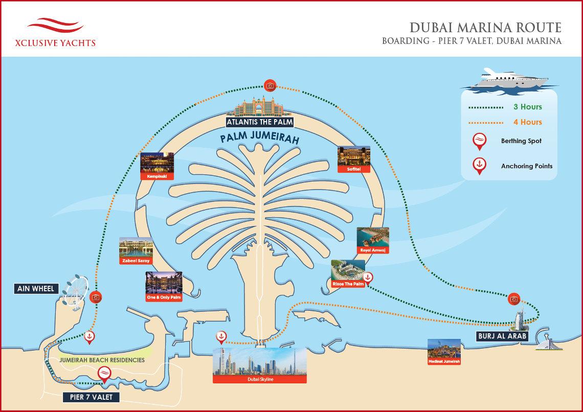 Yacht Cruise  Yacht Cruise Map  Xclusive Yachts