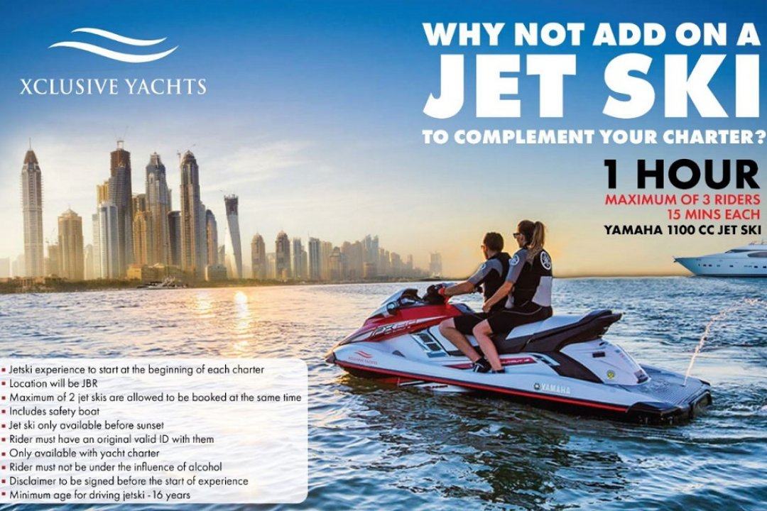 Hype up your water adventure and add Jet Ski Ride experience to your yacht charter. Xclusive Yacht has just made Yacht Tour experience more fun and exciting!