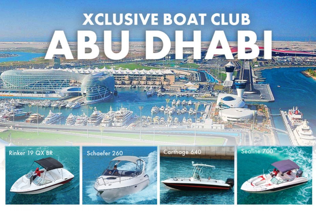 XCLUSIVE BOAT CLUB NOW OPERATING IN YAS MARINA ABU DHABI!