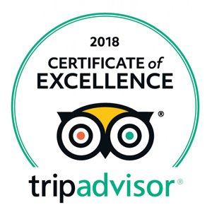 TripAdwisor - 2018 Certificate of Excellence