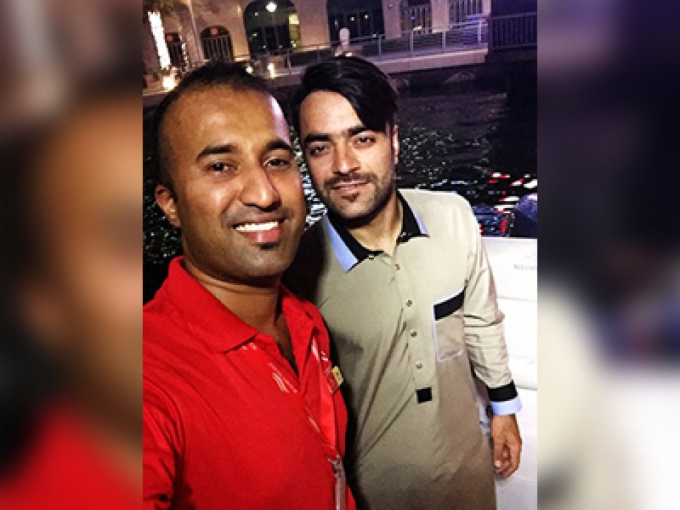 Rashid Khan - Afghan cricketer - one of the eleven cricketers to play in Afghanistan's first ever Test match, against India, in June 2018.